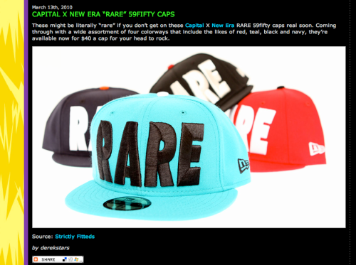 CAPITAL RARE hats feat on TheHudreds.com