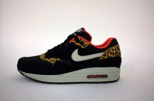 "100% authentic 4cdd3 dc270 ... Black Sandtrap Dark Gold Leaf Sunburst Women s Sneakers  Nike Air Max 1,  ""Leopard"". F W 12…women s only release ..."