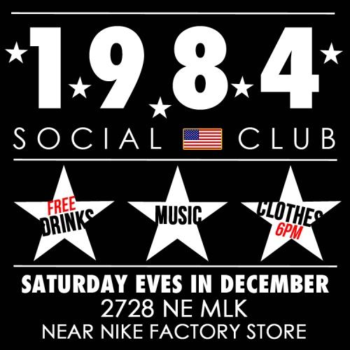 1984 social club flyer