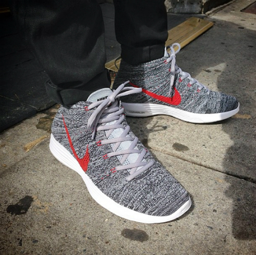 info for 0c4a6 46b55 Gimme 2 pair: Nike Lunar Flyknit Chukka Wolf Grey/University Red.